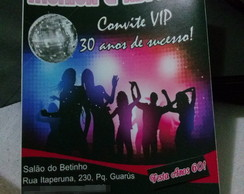 Convite Festa Balada Retr�