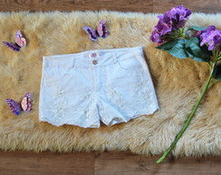 Short Branco com stretch Customizado