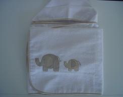(TO 0001) Toalha de banho elefantes