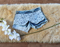 Short Saia Jeans Customizado