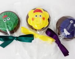 Pirulito de chocolate Barney e amigos