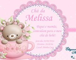 Convite Digital CH� DE BEB� menina 8