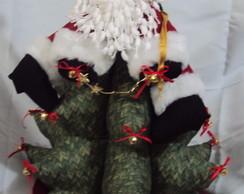 Arvore natal de tecido com Papai Noel