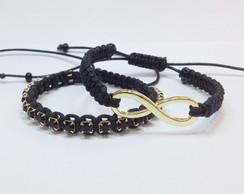 Kit pulseiras infinito