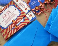 Convite Ingresso Circo (12X7cm)