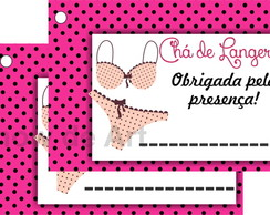Tag para lembrancinha lingerie