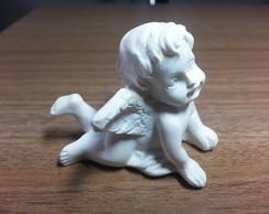Anjo Branco de Resina para Decora��o