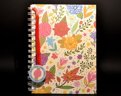 Caderno Floral 15,5x21,0 (A5)
