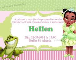 Convite A Princesa e o Sapo Baby