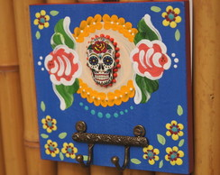 Porta chaves Caveira Mexicana