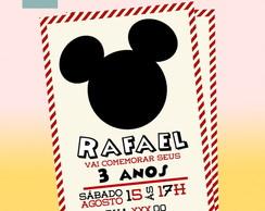 Convite Mickey & Minnie
