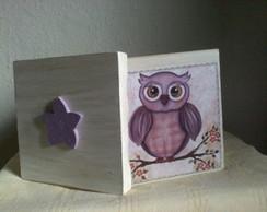 Caixa de MDf decorada com corujinha