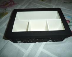 Caixa em MDF mini vinho