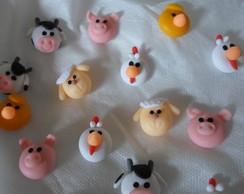 Aplique bichinhos de biscuit