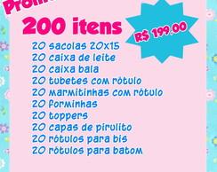 Kit festa 20 unidades de cada item