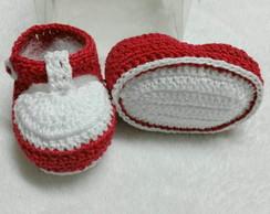 sapatinho de croche para bebes