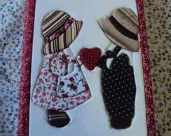 Caderno Namorados. Patch embutido