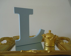 kit bandeja letra e coroa