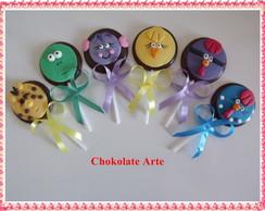 Pirulito de Chocolate Galinha Pintadinha