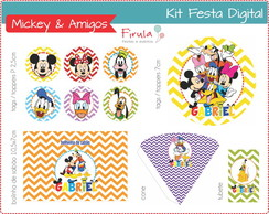 Kit Festa Digital Mickey & Amigos