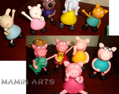 Bonecos peppa pig minimo 45 pe�as