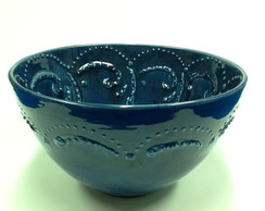 Tigela Blue com relevo