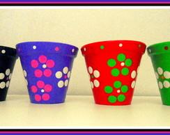 Vaso de Cer�mica Flower M.
