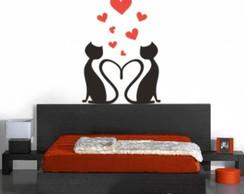 Adesivo Decorativo Cat Gatos Namorados