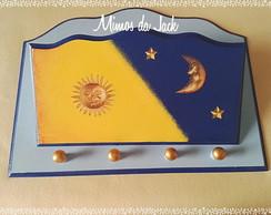 Chaveiro e Porta Cartas Sol e Lua