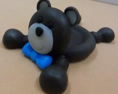 Porta docinho urso marrom e azul