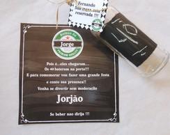 Convite garrafa Boteco