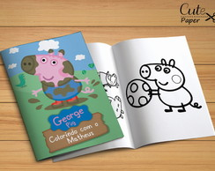 Revista para colorir Peppa Pig (George)