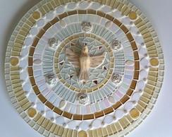 Mandala Divino Esp�rito Santo em mosaico