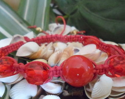 Pulseira Shamballa vermelha