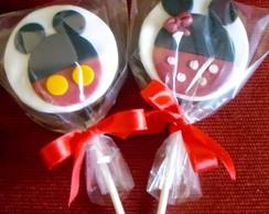 Pirulito de Chocolate Minnie e Mickey
