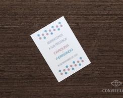 Cart�o Lembran�a Confete Papel Perolado