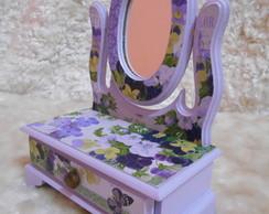 Porta Joias - Penteadeira com espelho -