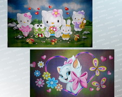 Painel Digital Hello Kitty, Marie, Pucca