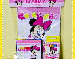Kit Colorir + Massinha Minnie e Mickey