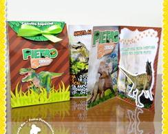 Convite Especial + Sacolinha Dinossauros