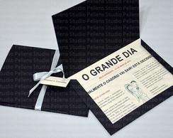 """Convite de Casamento """"O Jornal"""""""