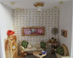 Casa de boneca miniatura