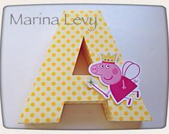 Letra 3D - Peppa Pig