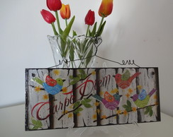 Quadro Decorativo P�ssaros Carpe Diem
