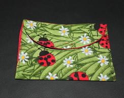 mini carteira tecido