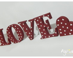 Letras decorativas - LOVE