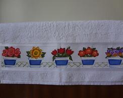 """Toalha De Banho """"Flores"""""""