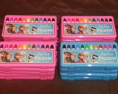 Estojo Personalizado com 12 canetinhas