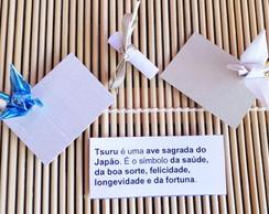 Cart�o com Tsuru de Origami