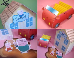 Kit Peppa: casa, carro, po�a e fam�lia